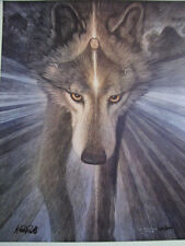 """Keith Powell """"She Calls the Buffalo"""" #407/500 Native American Indian Spirit Wolf"""