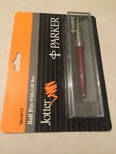 PARKER JOTTER MAROON CT BALLPOINT PEN-UK NEWHAVEN-GIFT BOX-SEALED-NEW OLD STOCK