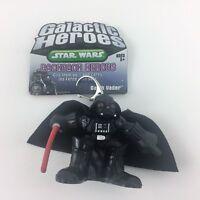 """Star Wars Galactic Heroes Backpack Heroes DARTH VADER Figure Keychain 2"""" 2005"""