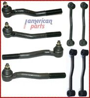 4x Rotule + 4x Barre D'Accouplement Pour Jeep Grand Cherokee Wj / Wg 1999 - 2004