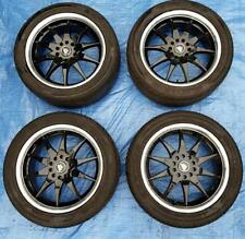 "4x BLACK RACING CERCHI IN LEGA 17"" Multi Fit PCD4x100/108 17x7J ET40+2 PNEUMATICI legale"