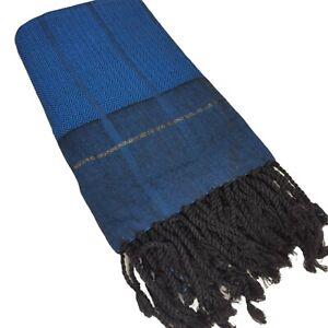 Extra Large 100%Turkish Cotton Beach Bath Pool Gym Towel 72''X39'' BLUE BLACK