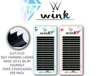 Pre made Russian Lashes Volume Fans 1D Mink Eyelash Extensions WINK C D Curl