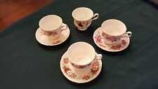 Queen Anne Bone China D474 Set of 3 Cups and Saucers 1 extra  Cup