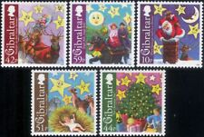 Gibraltar 2008 Christmas/Greetings/Santa Claus/Nativity/Reindeer 5v set (s6392y)