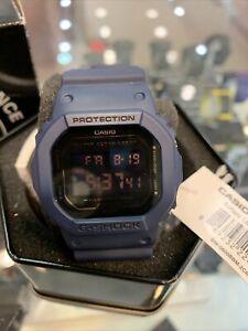 Casio G-Shock Watch DW-5600BBM-2 Matte Blue Digital  EUC!  US SHIPPING