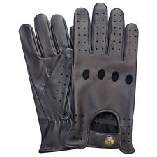 Top Quality Prime Men Chauffeur Soft Real Leather Driving Gloves 502 M Black