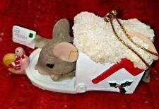 Charming Tails A Special Delivery Ornament by Fitz and Floyd 86/707 Dean Griff