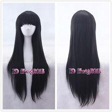 Nase Mitsuki/Kuronuma Sawako/Enma Ai Long Black Straight Anime Cosplay Wig
