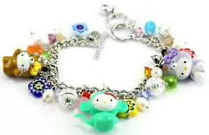 Pretty Hello Kitty Animal Charm Bracelet (Adjustable) W - #002