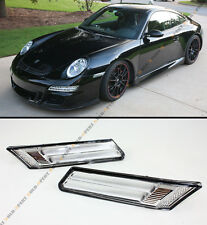For 05-09 Porsche Carrera 991 997 LED Strip Euro Chrome Side Marker Bumper Light