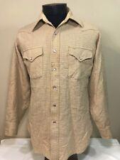 VTG Pendleton Flannel Shadow Plaid Board Wool High Grade Western Pearl Snap Sz M