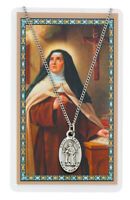 St. Teresa of Avila Necklace with a Laminated Prayer Card plus 2 prayer cards