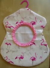 Klammersack, Klammerbeutel, Klammertasche, Klammerkleid aus Wachstuch - Flamingo