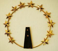 Aureola Stellario Per Statua Sacra in Ottone Dorato diametro 26