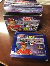 2017 TOPPS MLB STICKERS COLLECTION 36 PACKS WITH 8 STICKERS PER PACK NEW