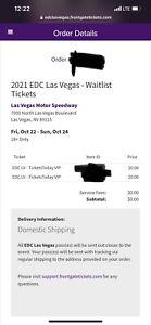 2 VIP EDC Las Vegas Tickets