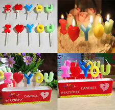 1 Set I LOVE YOU Letters Candles Cake Decor For Wedding Birthday Party Necessity