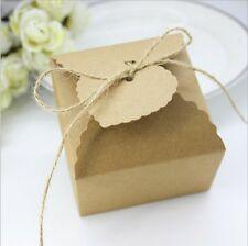 50pz Cubo Scatola Portaconfetti Porta dolcetti Carta Kraft Elegante Giardino