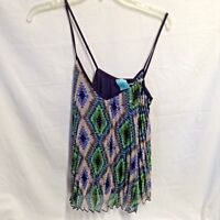 NWT HIP Happening In the Present Spaghetti Strap Tank Multicolor Navy Blue SZ M
