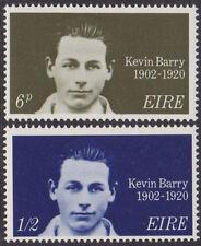 IRELAND, Scott #288-289: MNH, 1970 Kevin Barry set