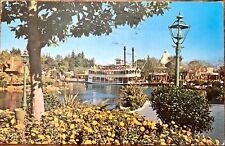Disneyland California Paddle Wheel Boat Ride Vintage Postcard