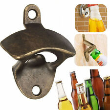 Bronze Wall Mount Bar Wine Beer Soda Glass Cap Bottle Opener Open Kitchen Tool