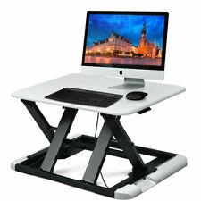 Adjustable Height Sit/Stand Desk Computer Lift Riser Laptop Work Station White