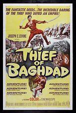 THIEF OF BAGHDAD * CineMasterpieces 1SH ORIGINAL MOVIE POSTER BAGDAD 1961