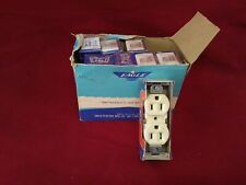 Vintage Eagle Electrical Ivory Outlet Receptacle 15 Amp 125 V New in box 8 NOS