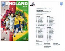 England v Brazil 14/11/2017 Programme plus free colour copy teamsheet