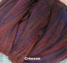 Crimson Red Colorblend Wool Top 4 oz. Volume Discount - Roving Felt Spin Yarn