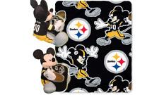 Pittsburgh Steelers   NorthWest Company Mickey Blanket & Pillow Set 40x50