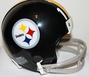 Terry Bradshaw Pittsburgh Steelers Riddell Custom Mini Helmet w/ 2 Bar Facemask