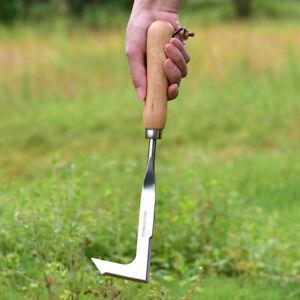 Stainless Steel Wood Handle Crack Weeder Weeding Sickler Weed Puller Weeder Tool