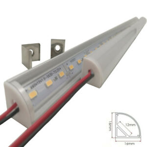 5pcs Wall Corner LED Bar Light DC 12V 50cm SMD 5730 Rigid LED Cabinet light