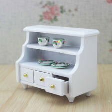 New 1/12 Dollhouse Miniature Furniture Bathroom Cabinet Toilet Cabinet White