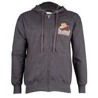 Deadwood Harley-Davidson® Men's Old Hat Black Charcoal Zip-Up Hoodie Sweatshirt