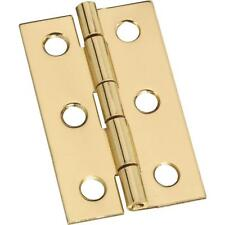 "25 Pk Polished Solid Brass 1 3/16"" Wide X 2"" High Jewelry Box Hinge 2/K N211300"