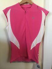 New Women's Pearl Izumi Select CS 3/4 Zip Jersey Sleeveless Medium Pink/White