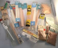 Huge Lot Model Train HO Scale Lumber Wood Timber Roofing Brass Pipe Shingles