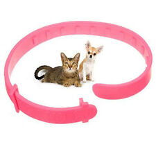 2x Adjustable Pet Cat Collar Anti Flea & Tick Mite Louse Remedy Neck Ring Pink!