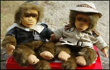 RARE PELUCHES COUPLE DE SINGES NEUF MARQUE PUPPET COLLECTION NEUFS