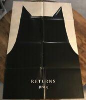 Batman Returns advance one sheet 1992 movie poster MICHAEL KEATON