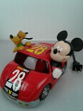 Disney team Mickey and Pluto Led electric alarm clock - works