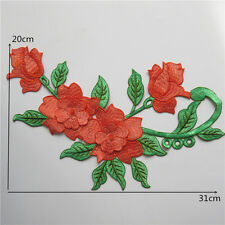 Embroidery Rose Flower Sew On Patch Badge Bag Jeans Dress Clothes Applique Craft