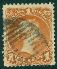 EDW1949SELL : CANADA 1868 Scott #22a Used. Watermarked. PSAG Cert. Catalog $500