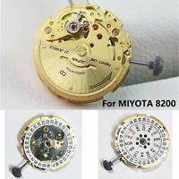 Original Japan Watch Movement for MIYOTA 8200 Automatic Movement 21 Jewels Gold