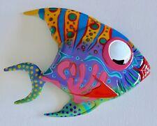 FANCY FISH RESIN ART BEACH OCEAN SEA THEME WALL HANGING FISH RUST SUN PROOF