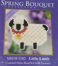 Mill Hill Little Lamb glass beaded cross stitch kit sheep perforated paper 2011